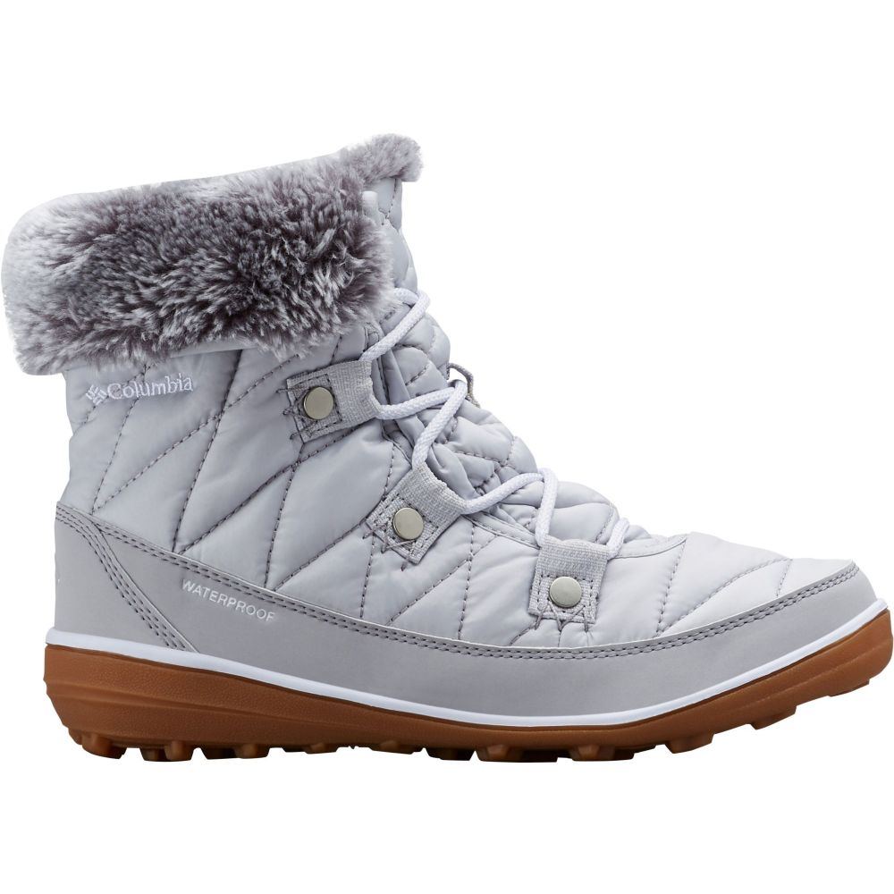 コロンビア Columbia レディース ブーツ ウインターブーツ シューズ・靴【Heavenly Shorty Omni-Heat 200g Waterproof Winter Boots】Grey Ice/White