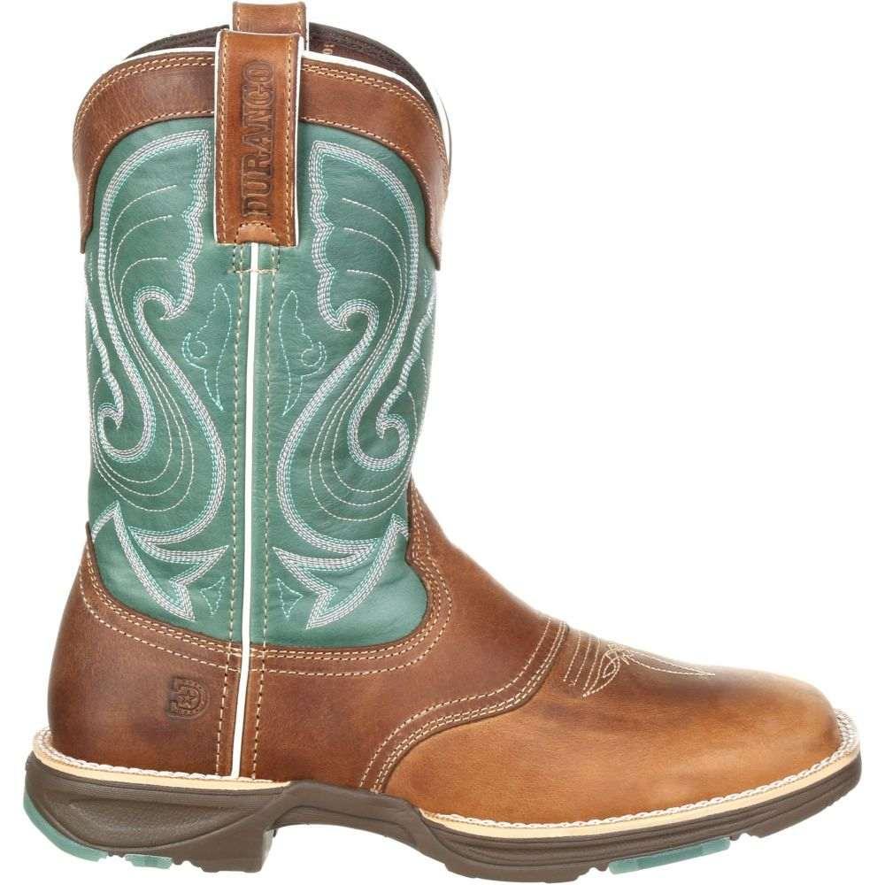 デュランゴ Durango レディース ブーツ ウェスタンブーツ ワークブーツ シューズ・靴【UltraLite Western Work Boots】Tan/Emerald