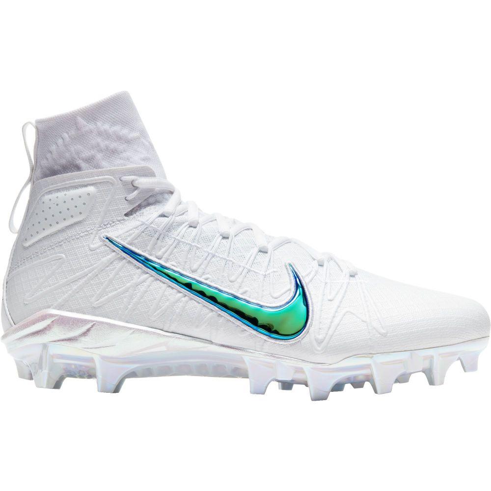 ナイキ Nike メンズ ラクロス スパイク シューズ・靴【Alpha Huarache 7 Elite PRM Mid Lacrosse Cleats】White/Green