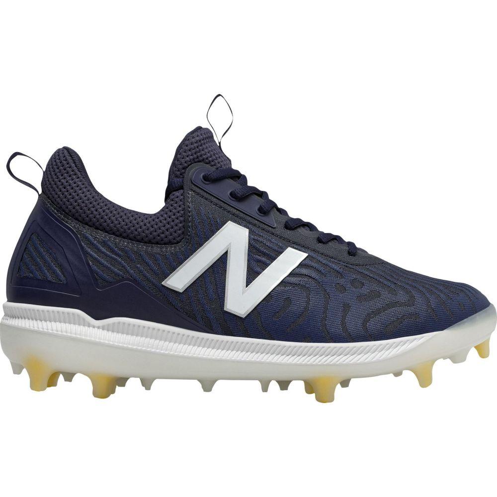 ニューバランス New Balance メンズ 野球 スパイク シューズ・靴【COMPV2 Baseball Cleats】Navy/White
