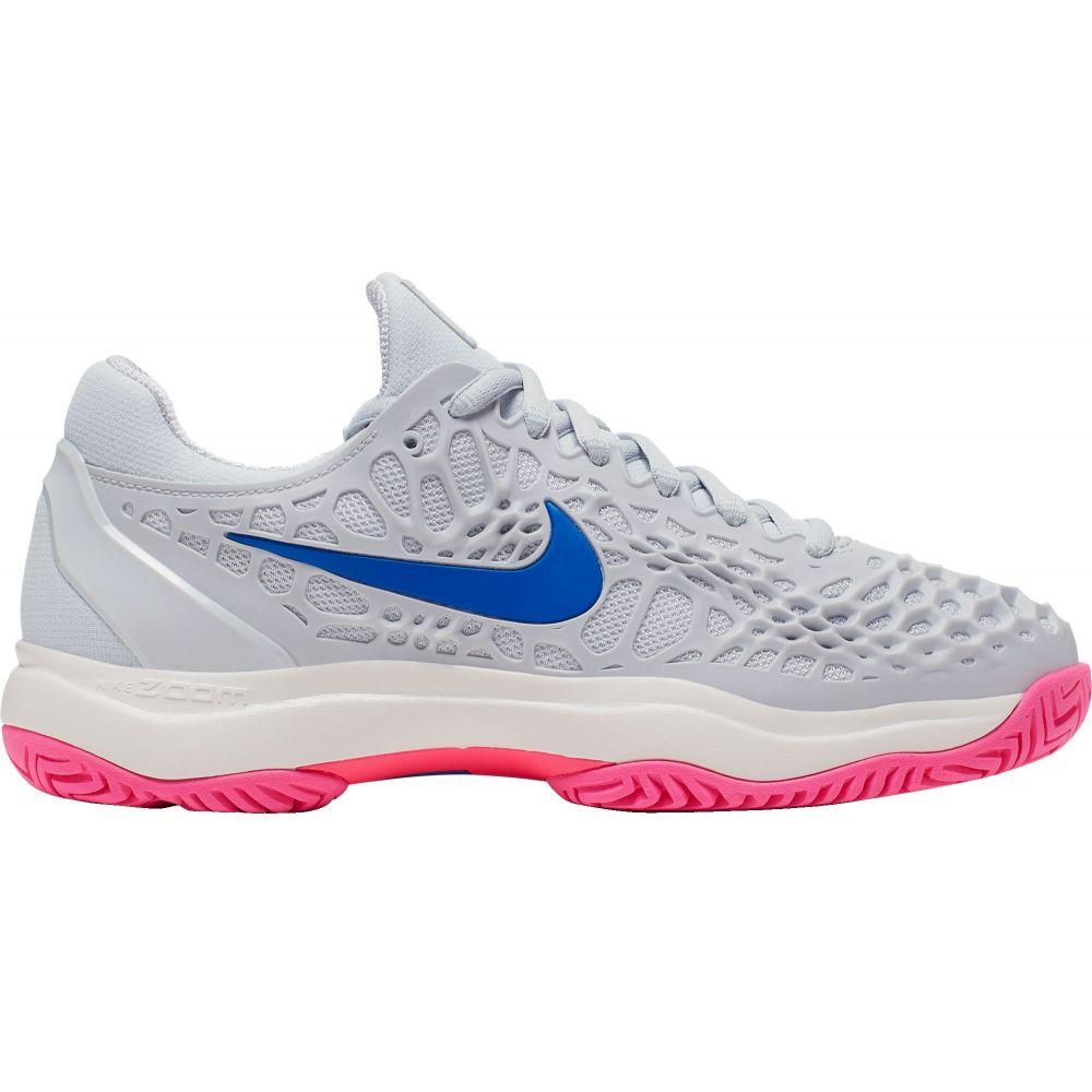 ナイキ レディース テニス シューズ・靴 【サイズ交換無料】 ナイキ Nike レディース テニス シューズ・靴【Zoom Cage 3 Tennis Shoes】Pure Plat/Racer Blu