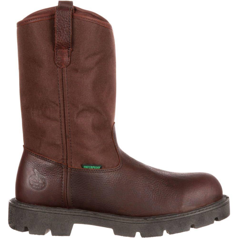 ジョージアブーツ Georgia Boots メンズ ブーツ ウェリントンブーツ ワークブーツ シューズ・靴【Georgia Boot Homeland Wellington 11'' Waterproof Steel Toe Work Boots】Brown