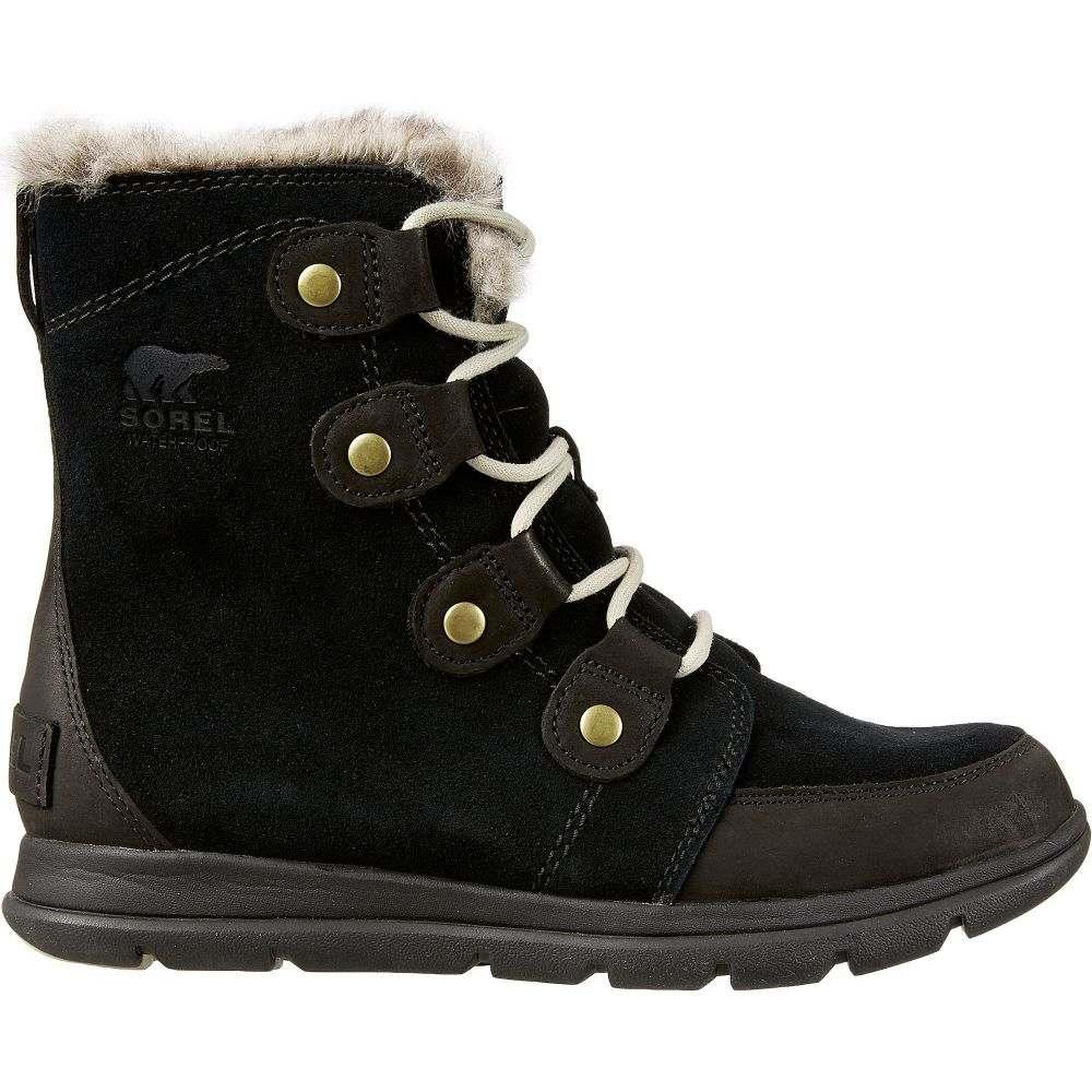 ソレル SOREL レディース ブーツ ウインターブーツ シューズ・靴【Explorer Joan 100g Waterproof Winter Boots】Black/Stone