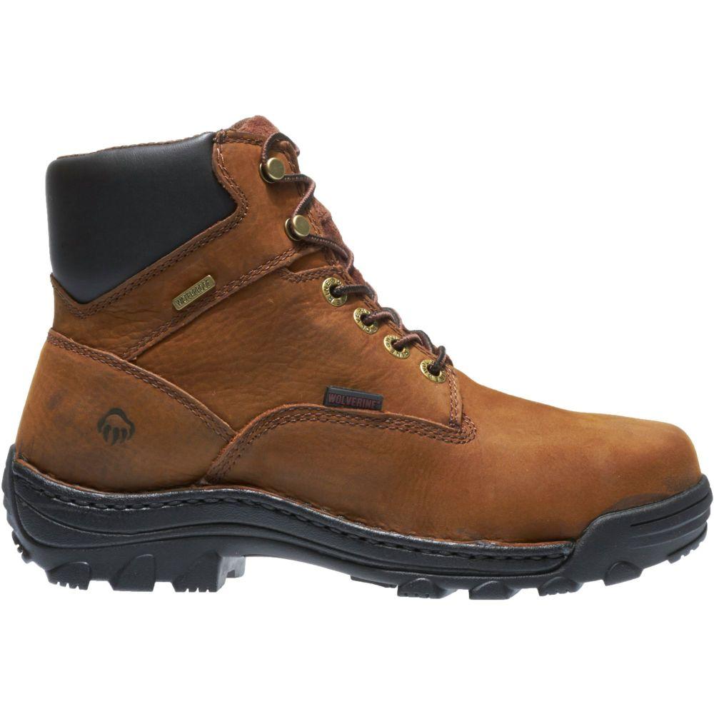 ウルヴァリン Wolverine メンズ ブーツ ワークブーツ シューズ・靴【Durbin 6'' Waterproof Work Boots】Brown
