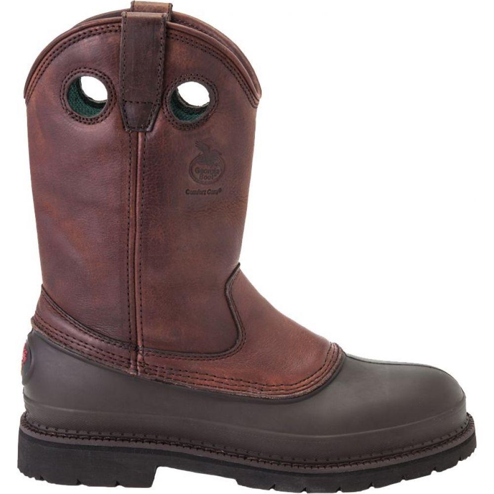 ジョージアブーツ Georgia Boots メンズ ブーツ ワークブーツ シューズ・靴【Georgia Boot Muddog Pull-On Steel Toe Work Boots】Soggy Brown