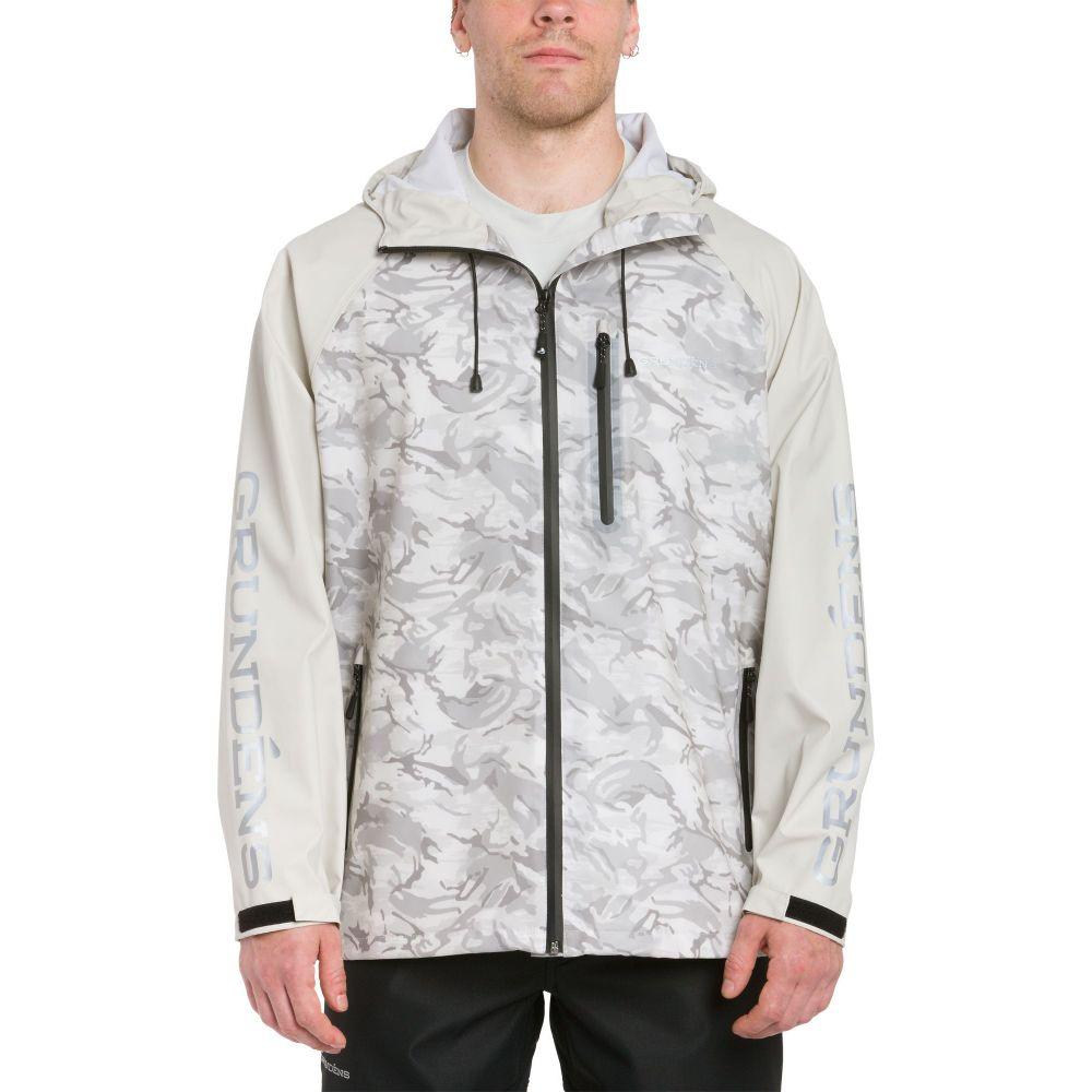 グルンデン Grundens USA メンズ ジャケット アウター【Grundens Tourney Camo Jacket】Refraction Glacier Camo