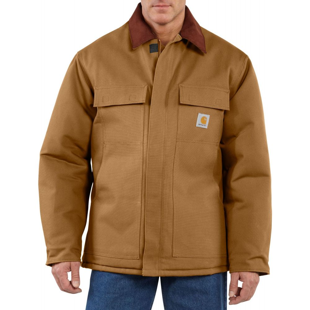 カーハート Carhartt メンズ コート アウター【Traditional Arctic Quilt-Lined Duck Coat (Regular and Big & Tall)】Carhartt Brown