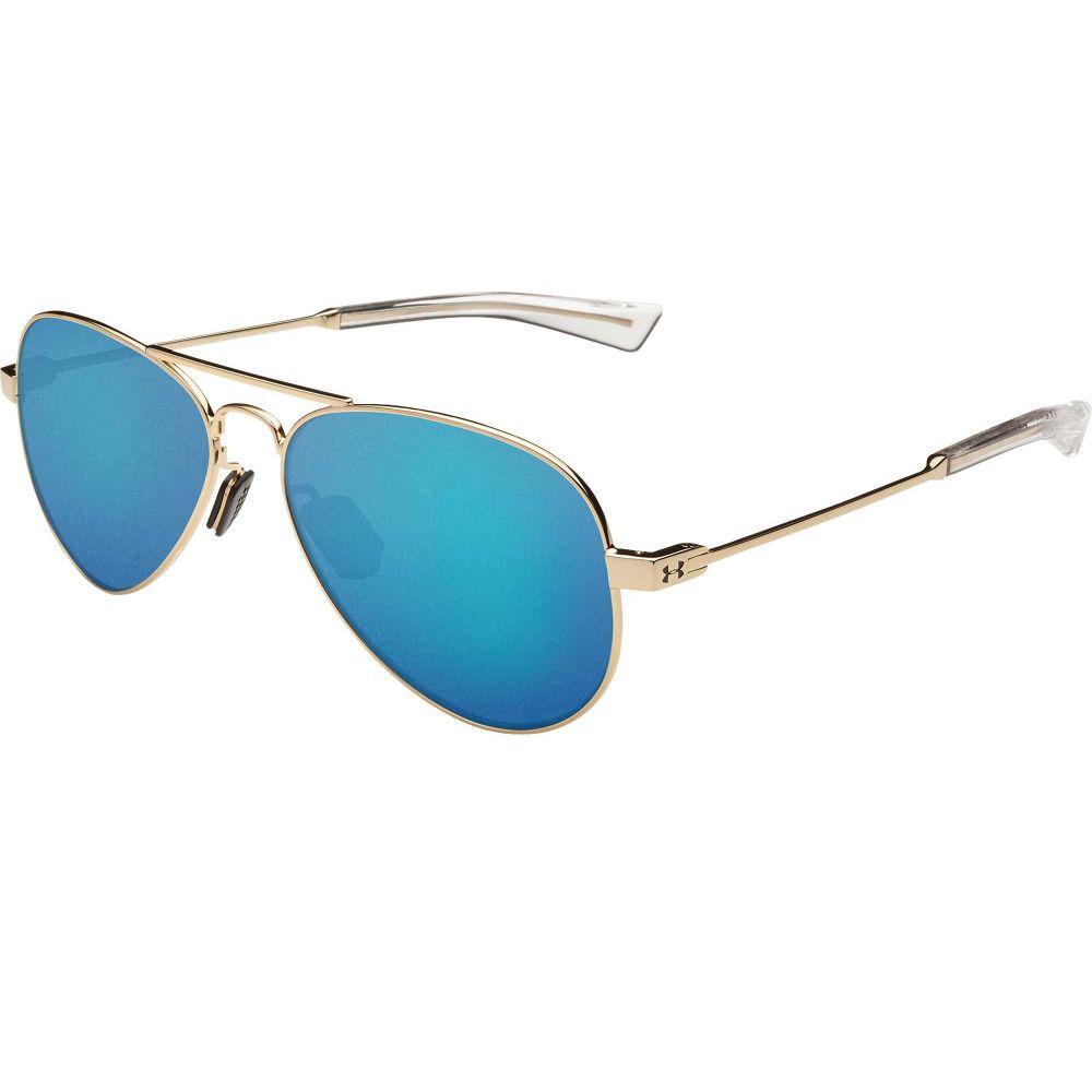 アンダーアーマー Under Armour メンズ メガネ・サングラス 【Getaway Sunglasses】Gloss Rose Gold/Blue Mirror