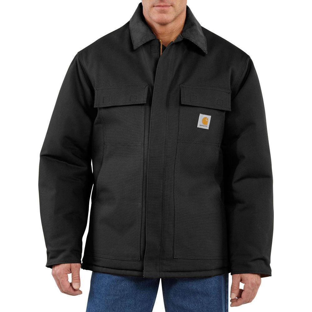 カーハート Carhartt メンズ コート アウター【Traditional Arctic Quilt-Lined Duck Coat (Regular and Big & Tall)】Black