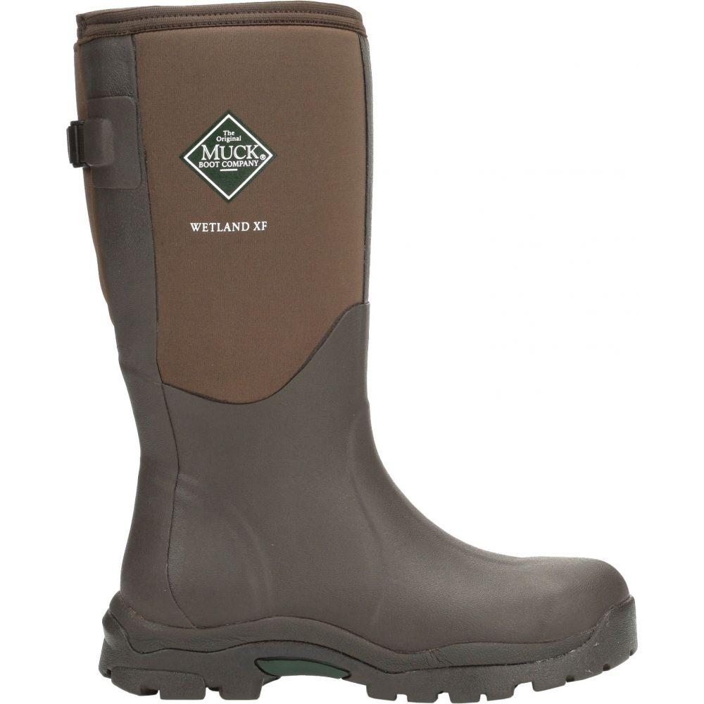 マックブーツ Muck Boots レディース ブーツ シューズ・靴【Wetland Wide Calf Rubber Hunting Boots】Bark
