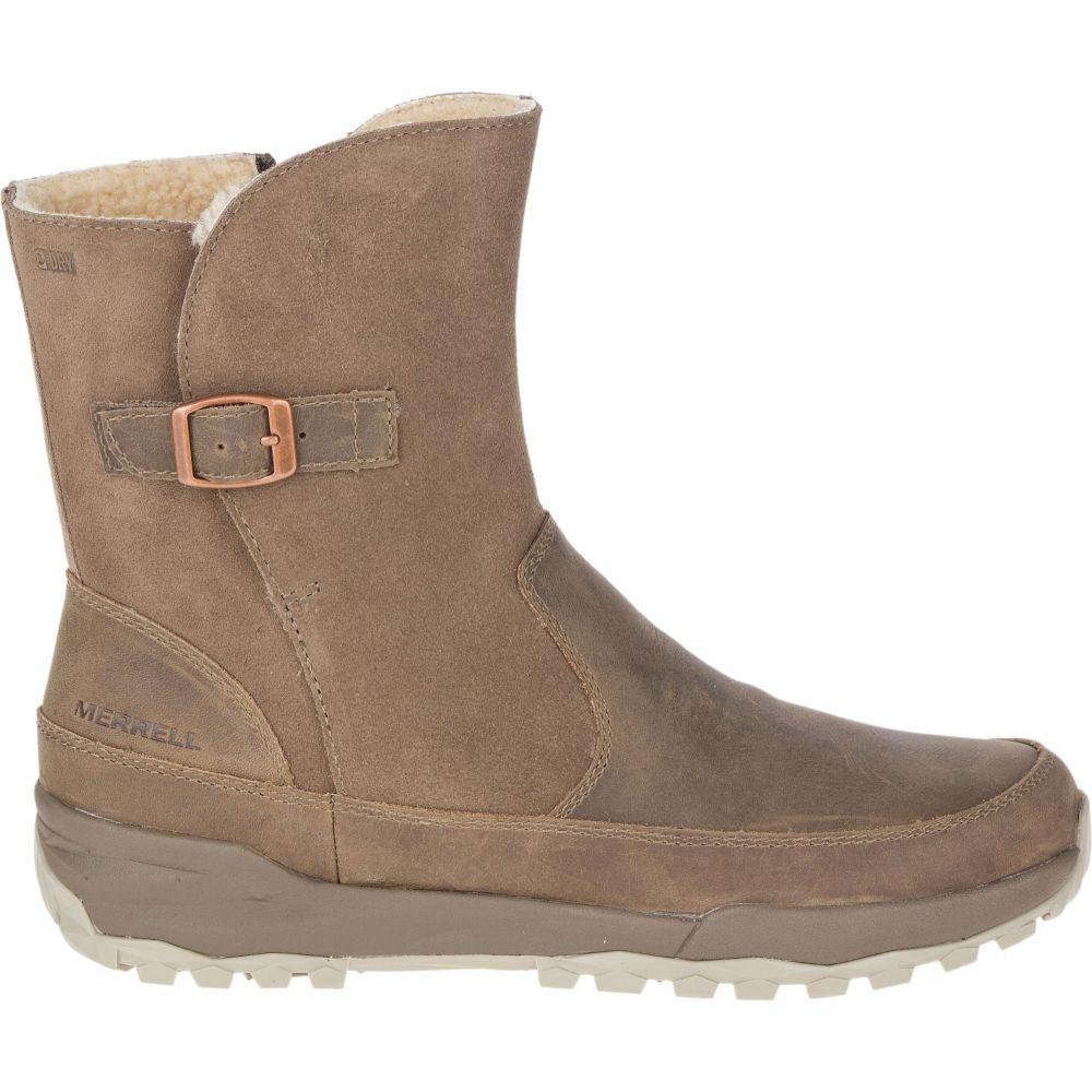 メレル Merrell レディース ブーツ シューズ・靴【Icepack Guide Buckle Polar Waterproof Boots】Stone