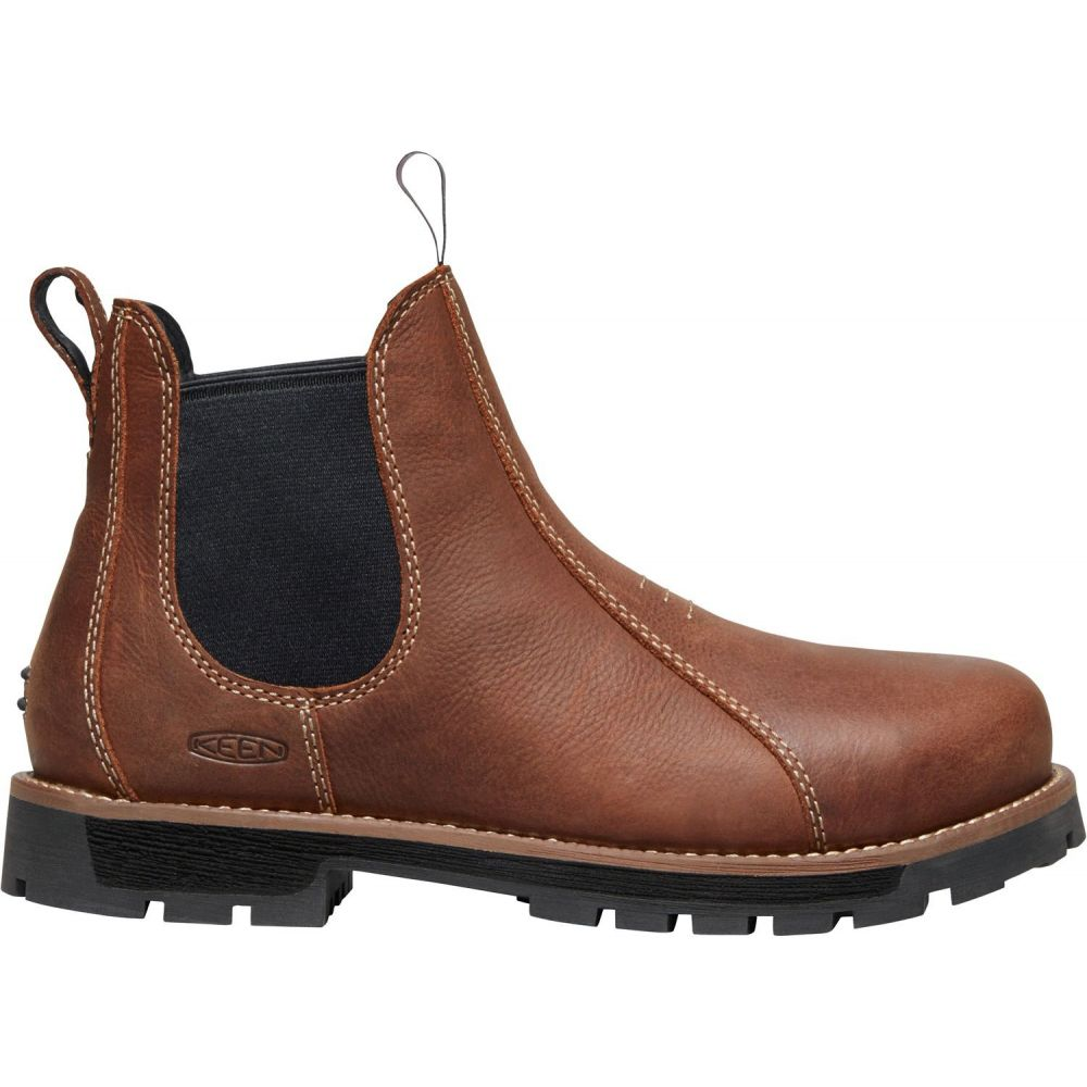 キーン Keen レディース ブーツ ワークブーツ シューズ・靴【KEEN Seattle Romeo Mid Aluminum Toe Work Boots】Gingerbread