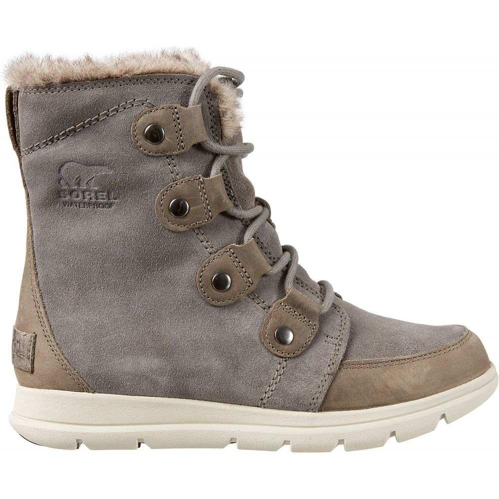 ソレル SOREL レディース ブーツ ウインターブーツ シューズ・靴【Explorer Joan 100g Waterproof Winter Boots】Quarry/Black