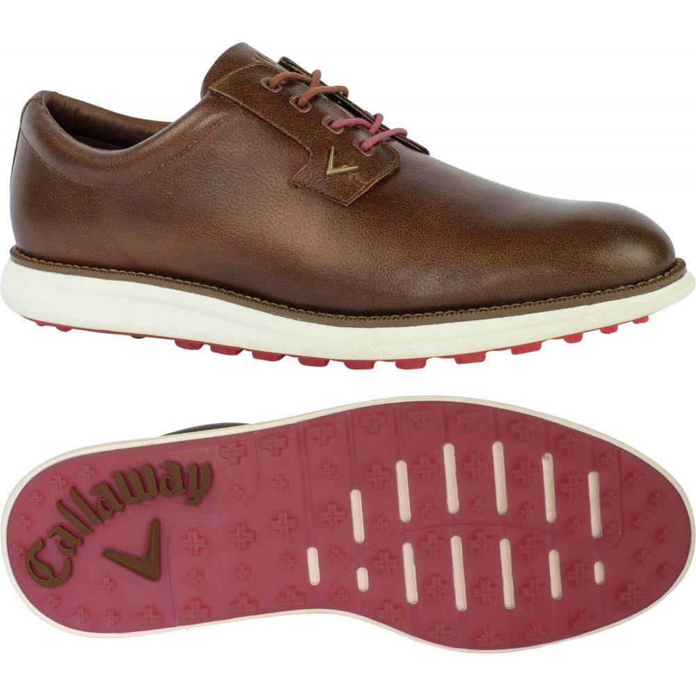 キャロウェイ Callaway メンズ ゴルフ シューズ・靴【Swami Golf Shoes】褐色