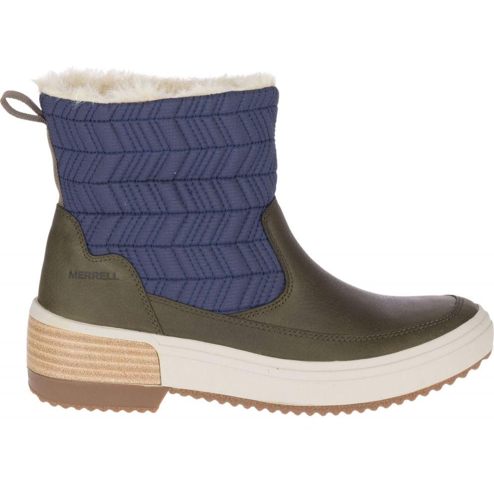 メレル Merrell レディース ブーツ シューズ・靴【Haven Bluff Polar Waterproof Boots】Peacoat