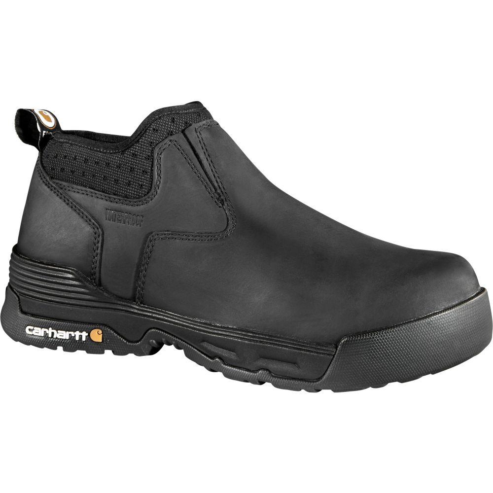 カーハート Carhartt メンズ ブーツ ワークブーツ シューズ・靴【Force 4'' Slip-On Composite Toe Waterproof Work Boots】Black