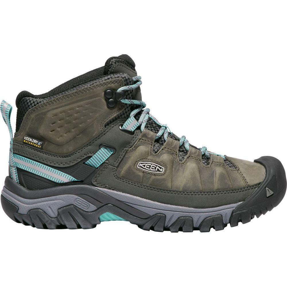 キーン Keen レディース ハイキング・登山 ブーツ シューズ・靴【KEEN Targhee III Mid Waterproof Hiking Boots】Alcatraz/Blue Turquoise
