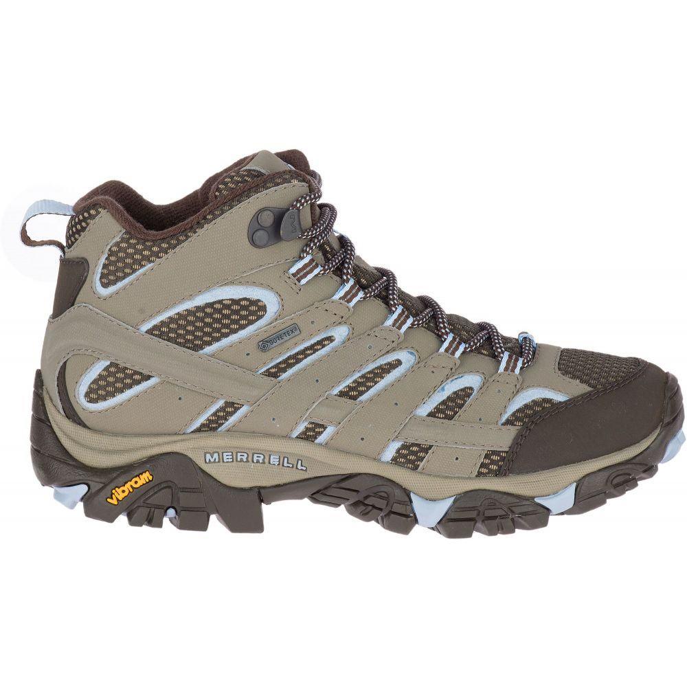 メレル Merrell レディース ハイキング・登山 ブーツ シューズ・靴【Moab 2 Mid GTX Waterproof Hiking Boots】Brindle