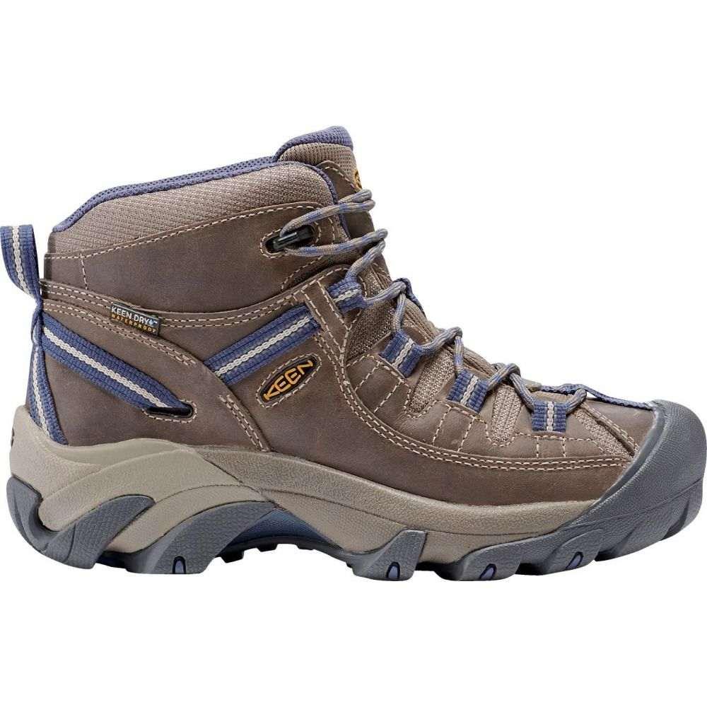 キーン Keen レディース ハイキング・登山 シューズ・靴【KEEN Targhee II Mid Waterproof Hiking Boots】Goat/Crown Blue