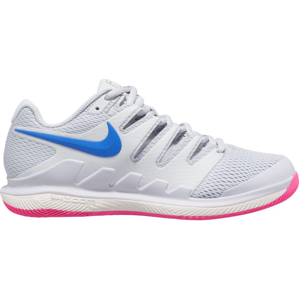 ナイキ レディース テニス シューズ・靴 【サイズ交換無料】 ナイキ Nike レディース テニス エアズーム シューズ・靴【Air Zoom Vapor X Tennis Shoes】Pure Plat/Racer Blu