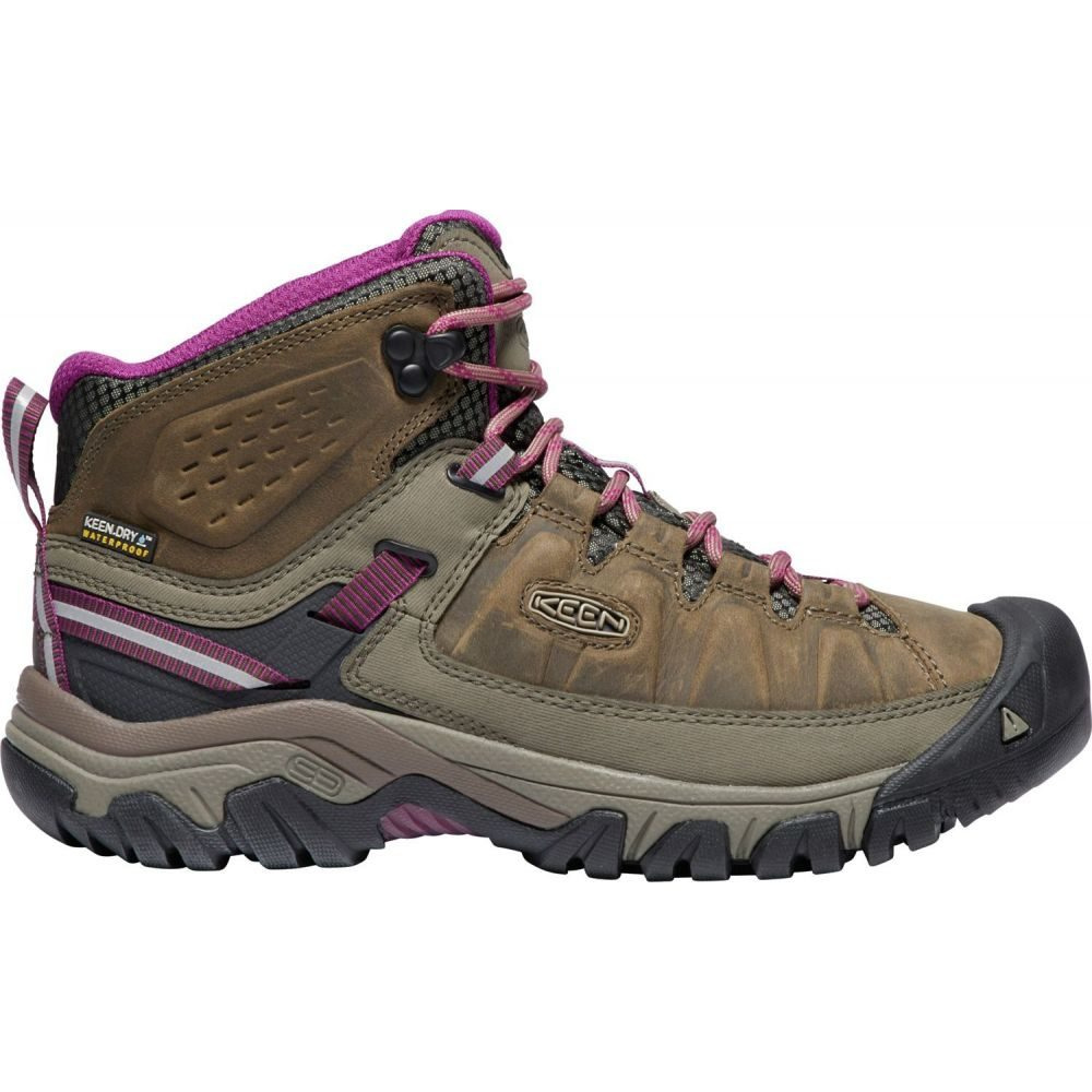 キーン Keen レディース ハイキング・登山 ブーツ シューズ・靴【KEEN Targhee III Mid Waterproof Hiking Boots】Weiss/Boysenberry