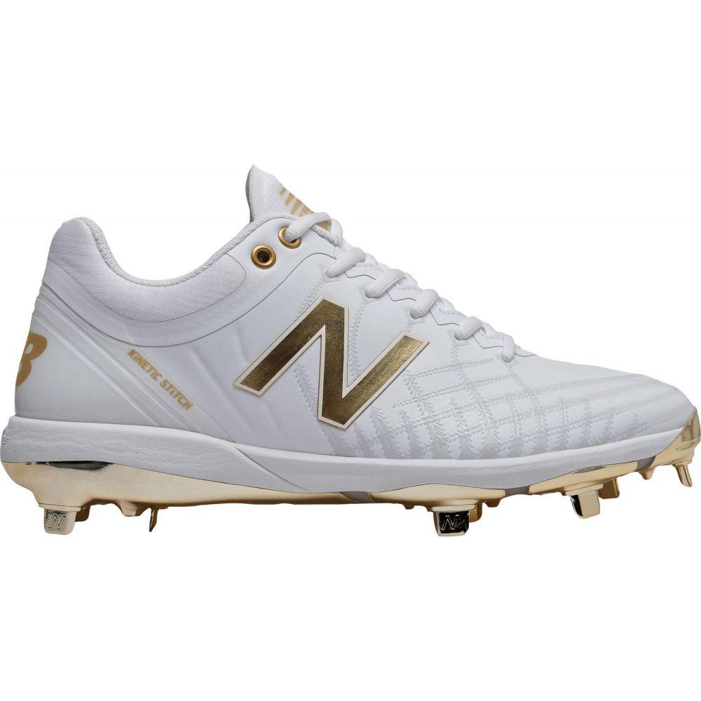 ニューバランス New Balance メンズ 野球 スパイク シューズ・靴【4040 v5 Metal Baseball Cleats】White/Gold