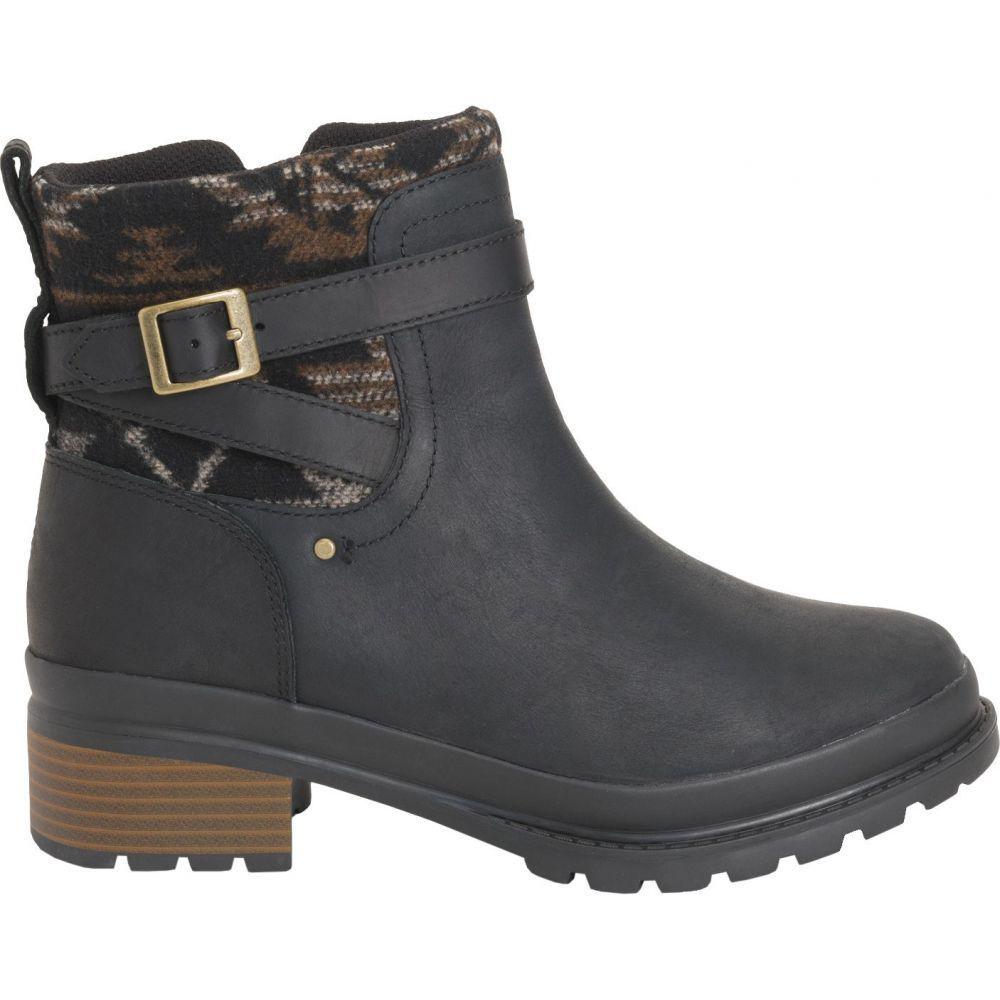 マックブーツ Muck Boots レディース ブーツ ショートブーツ シューズ・靴【Liberty Ankle Zip Rubber Boots】Black