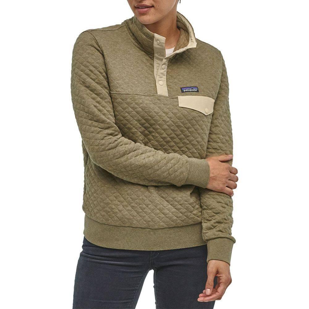 パタゴニア Patagonia レディース トップス 【Cotton Quilt Snap-T Pullover】Sage Khaki