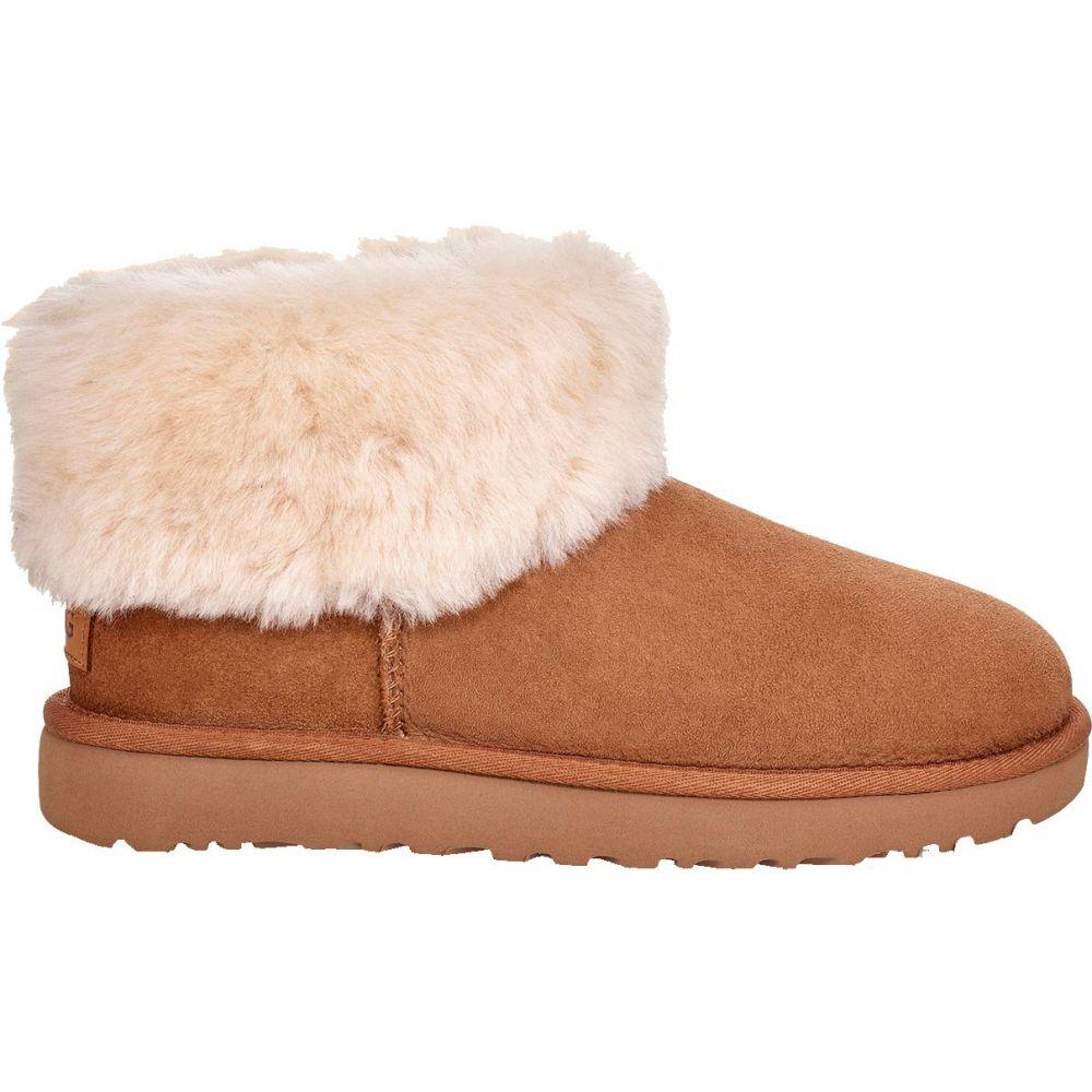 アグ UGG レディース ブーツ シューズ・靴【Classic Mini Fluff Sheepskin Boots】Chestnut