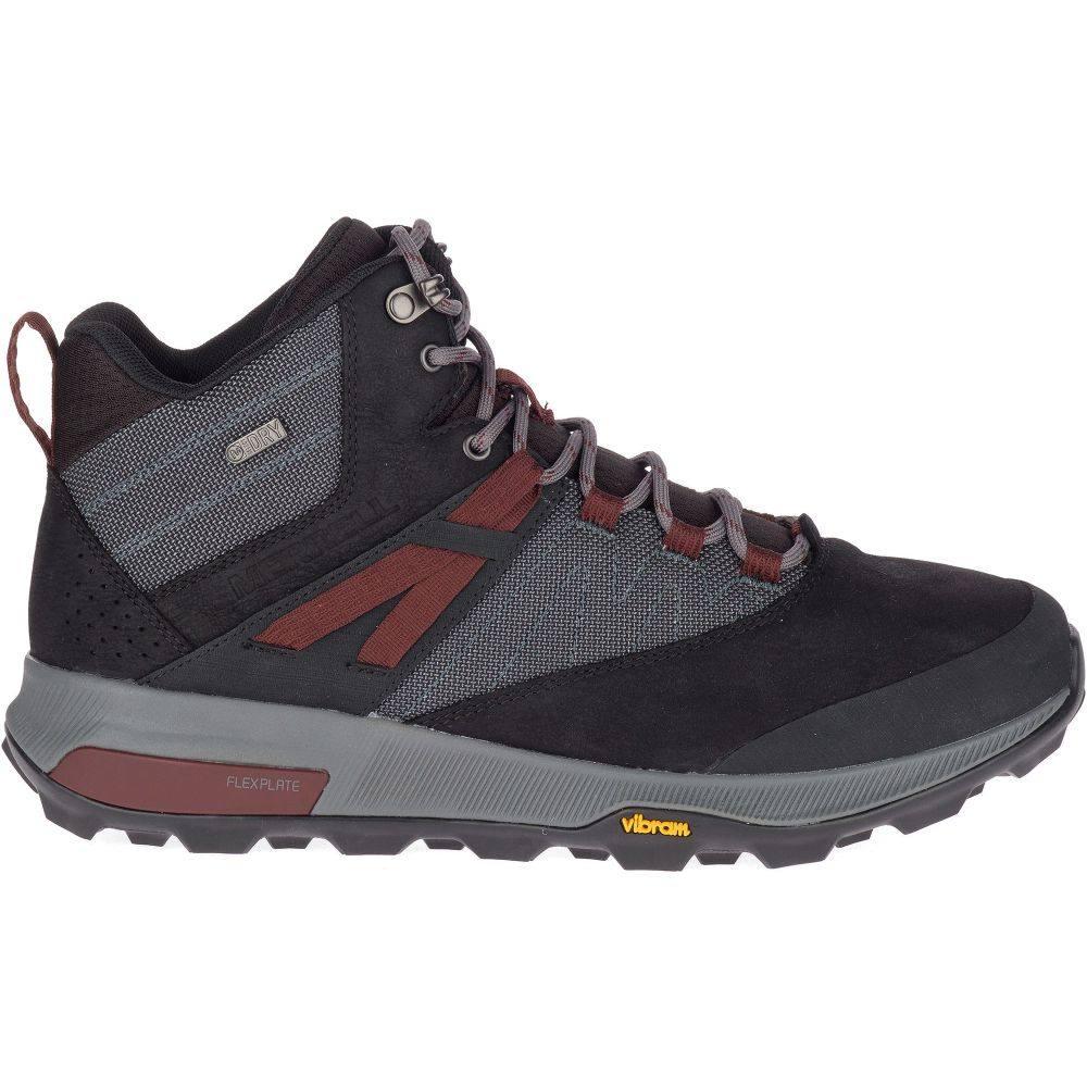メレル Merrell メンズ ハイキング・登山 ブーツ シューズ・靴【Zion Mid Waterproof Hiking Boots】Black