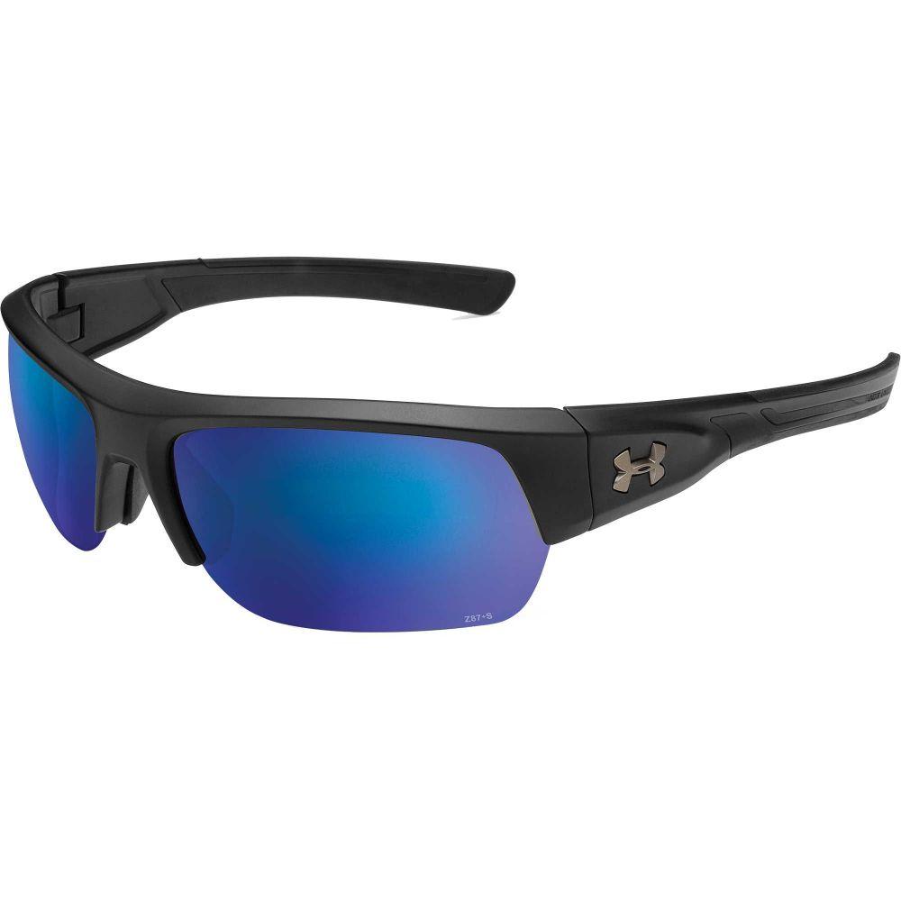 アンダーアーマー メンズ ファッション小物 スポーツサングラス 【サイズ交換無料】 アンダーアーマー Under Armour メンズ スポーツサングラス 【Big Shot Fishing Tuned Offshore Polarized Sunglasses】Satin Black/Offshore Polar Lens