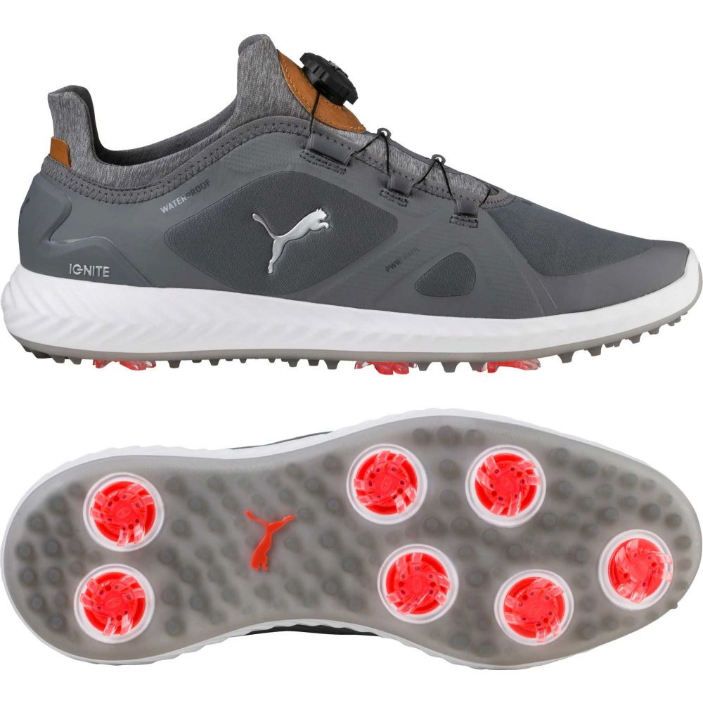 プーマ PUMA メンズ ゴルフ シューズ・靴【IGNITE PWRADAPT DISC Golf Shoes】グレー/白い