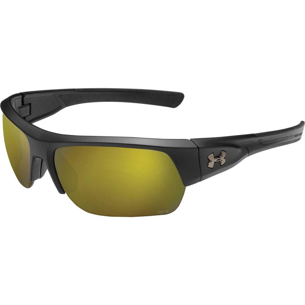 アンダーアーマー Under Armour メンズ スポーツサングラス 【Big Shot Fishing Tuned Shoreline Polarized Sunglasses】Satin Black/Shoreline Polar Lens