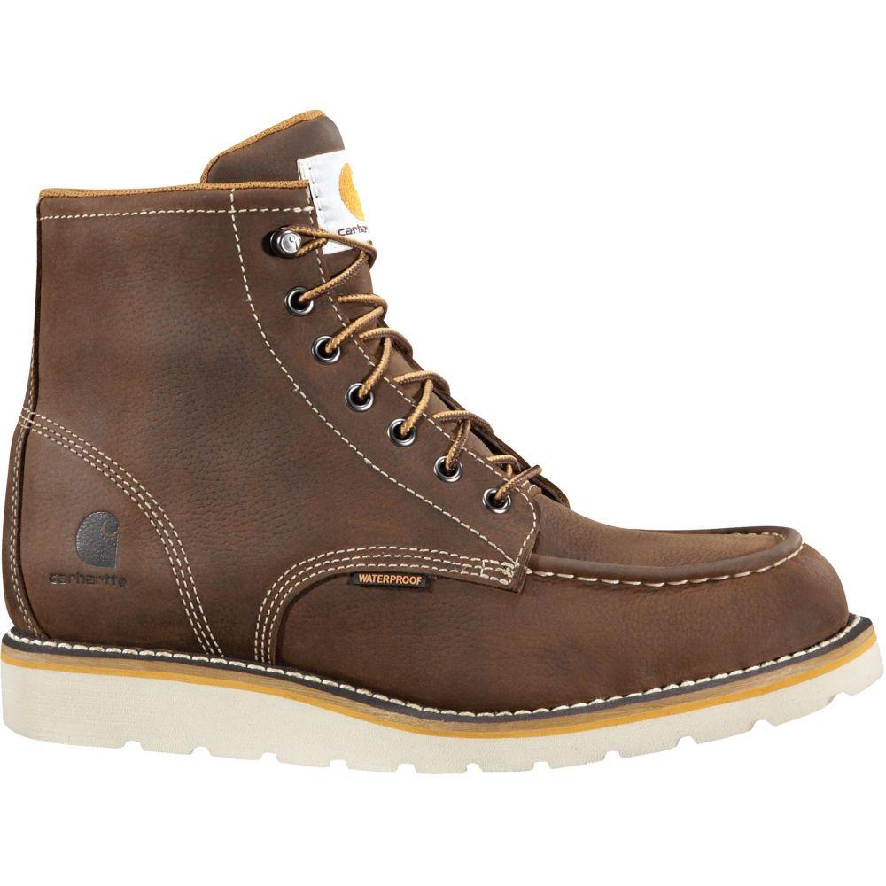 カーハート Carhartt メンズ ブーツ モックトゥ ウェッジソール ワークブーツ シューズ・靴【Moc Toe Wedge 6'' Waterproof Work Boots】Brown