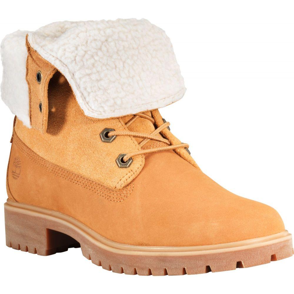 ティンバーランド Timberland レディース ブーツ シューズ・靴【Jayne Fleece Fold-Down Waterproof Boots】Wheat