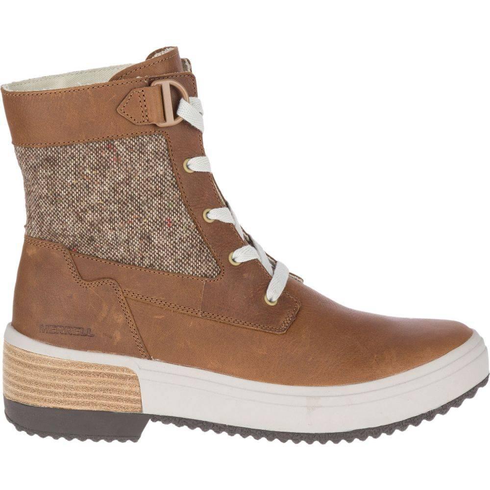 メレル Merrell レディース ブーツ シューズ・靴【Haven Mid Lace Waterproof Boots】Tobacco