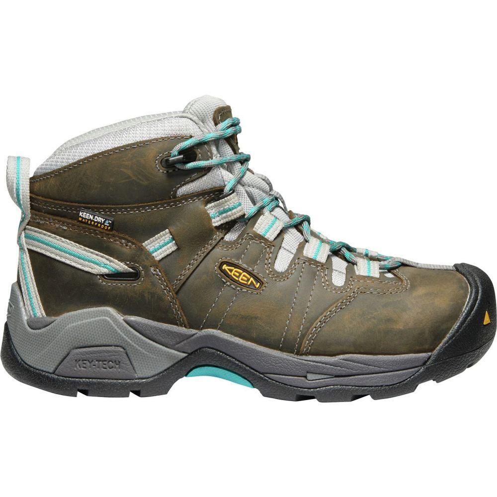 キーン Keen レディース ブーツ ワークブーツ シューズ・靴【KEEN Detroit XT Mid Waterproof Steel Toe Work Boots】Gargoyle