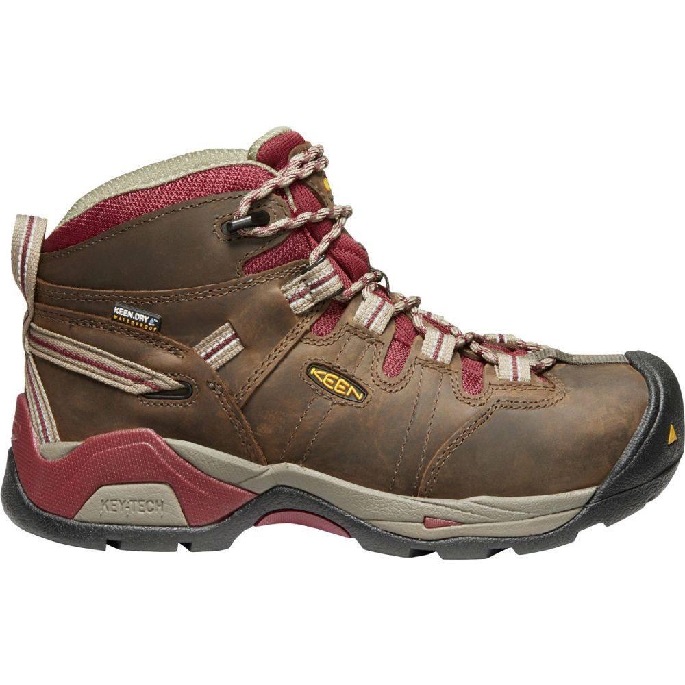 キーン Keen レディース ブーツ ワークブーツ シューズ・靴【KEEN Detroit XT Mid Waterproof Steel Toe Work Boots】Black Olive