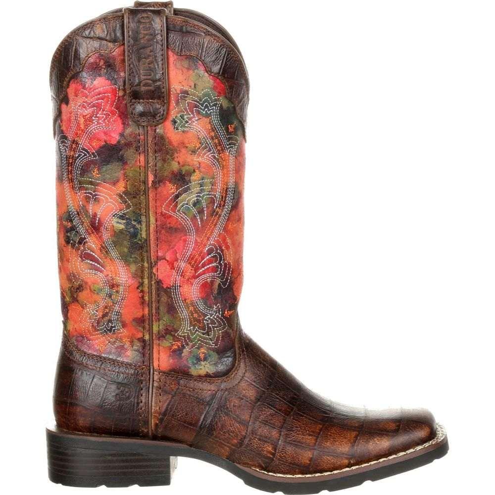 デュランゴ Durango レディース ブーツ ウェスタンブーツ シューズ・靴【Mustang Exotic Rose Western Boots】Gator Emboss/Floral Rose