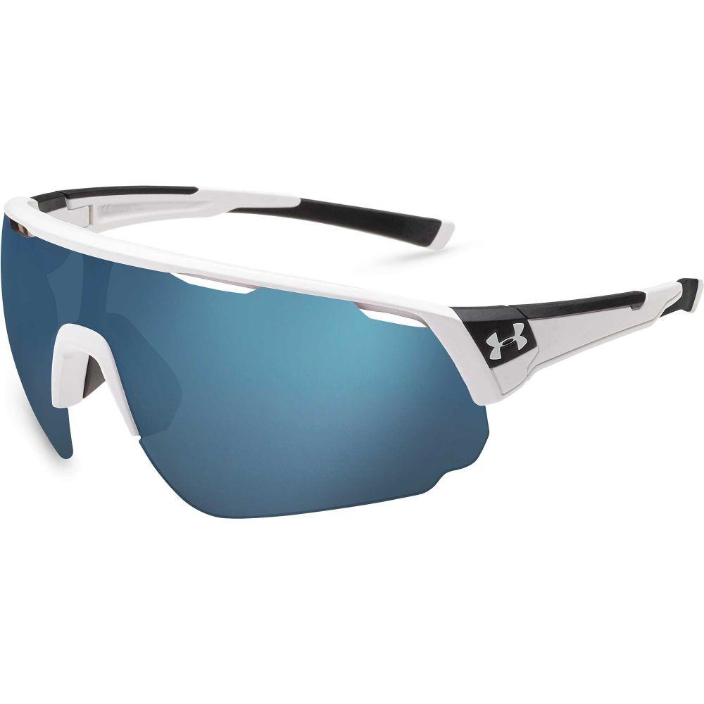 アンダーアーマー Under Armour メンズ スポーツサングラス 【Changeup Tuned Baseball Sunglasses】Satin White/Baseball Tuned Lens