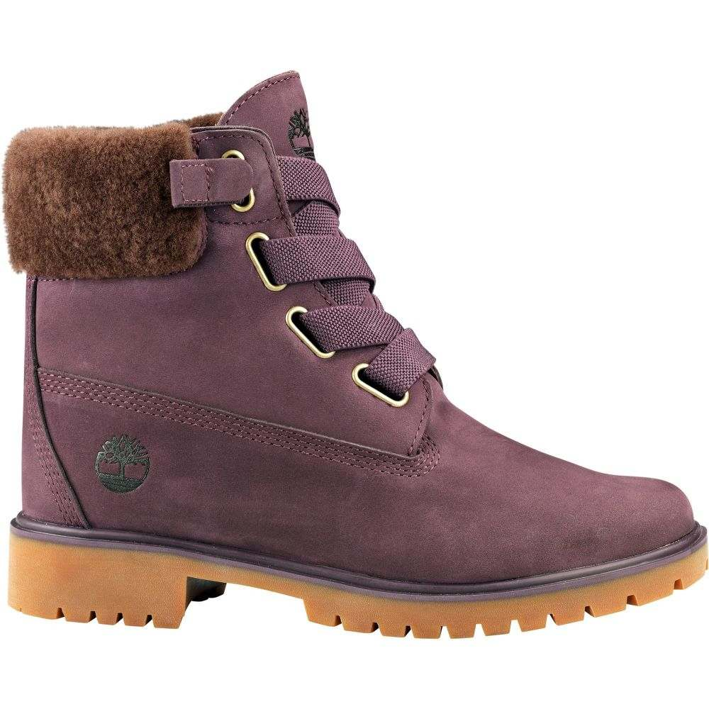 ティンバーランド Timberland レディース ブーツ シアリング シューズ・靴【Jayne 6'' Shearling Waterproof Casual Boots】Dark Purple Nubuck