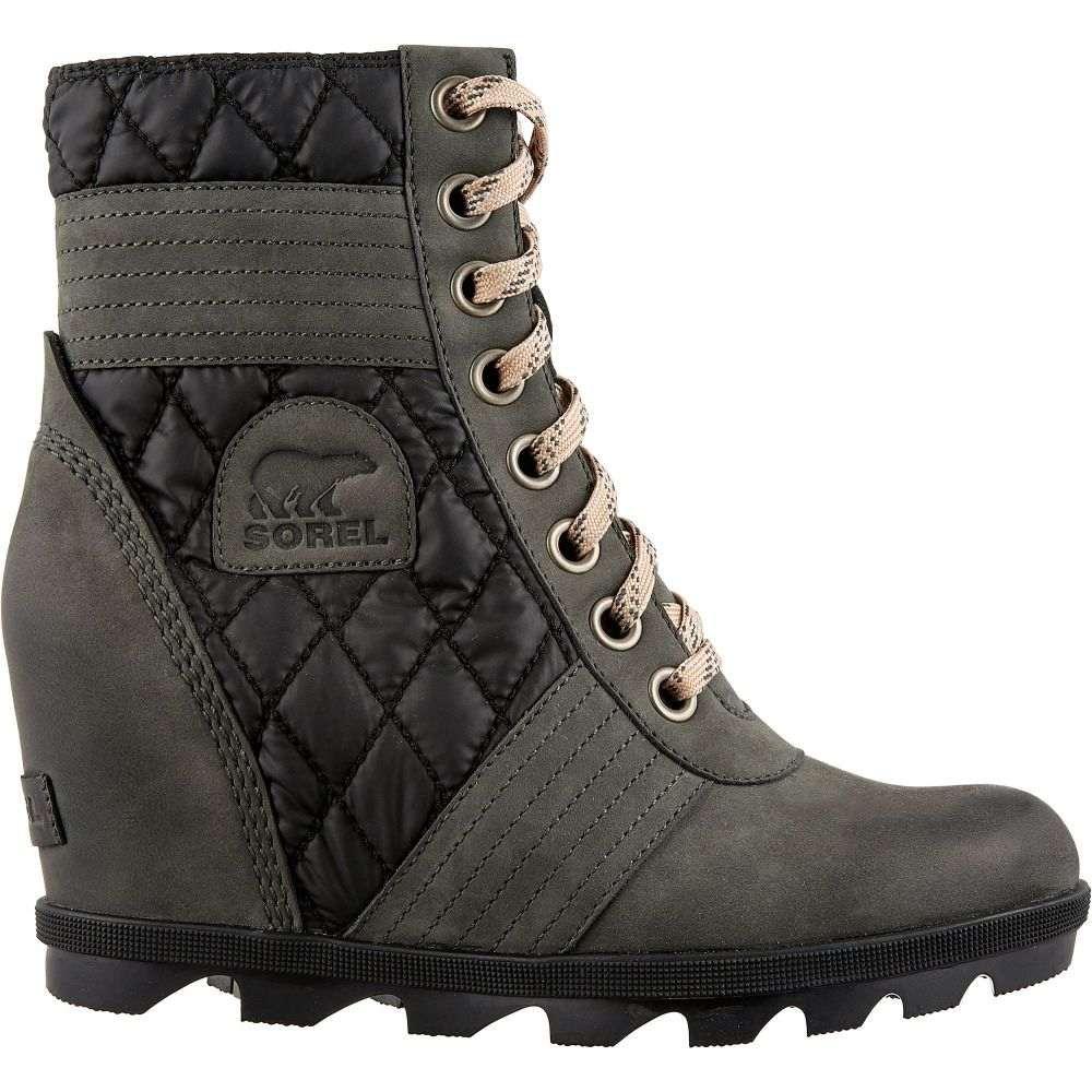ソレル SOREL レディース ブーツ ウェッジソール シューズ・靴【Lexie Wedge Camp Casual Boots】Dark Slate