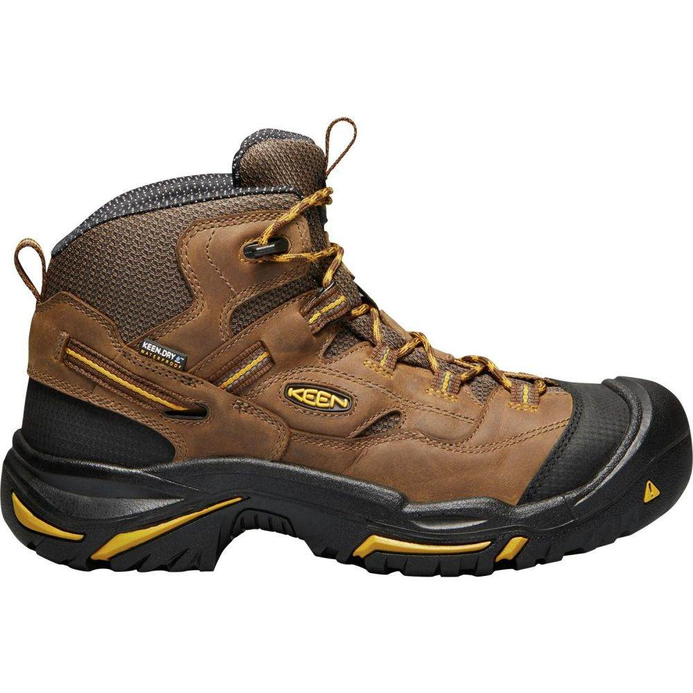 キーン Keen メンズ ブーツ ワークブーツ シューズ・靴【KEEN Braddock Mid Waterproof Work Boots】Cascade Brown/Tawny Olive