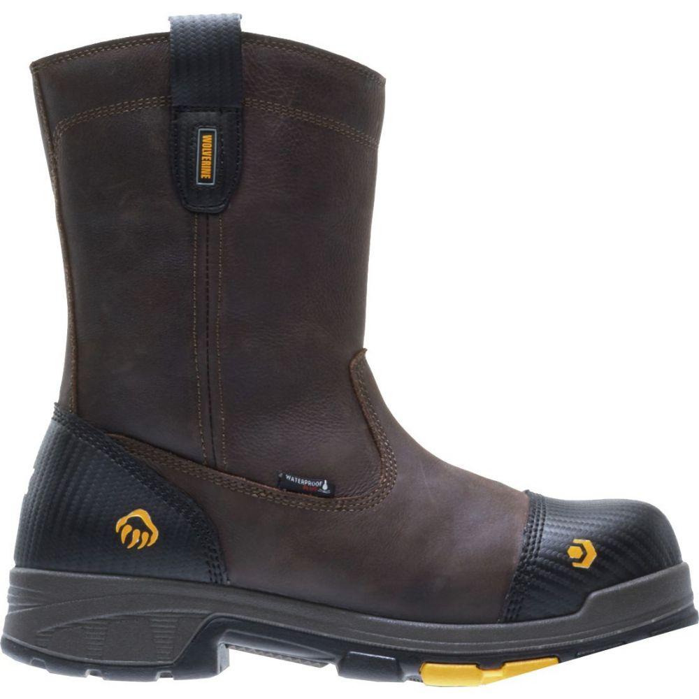 ウルヴァリン Wolverine メンズ ブーツ ウェリントンブーツ ワークブーツ シューズ・靴【Blade LX 10'' Wellington Waterproof Composite Toe Work Boots】Brown