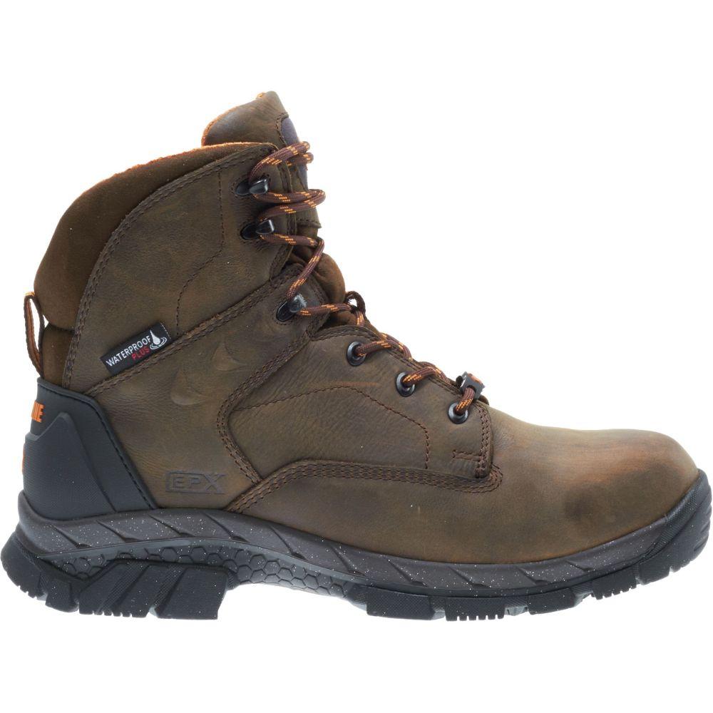 ウルヴァリン Wolverine メンズ ブーツ ワークブーツ シューズ・靴【Glacier Ice 6'' 400g Waterproof Composite Toe Work Boots】Brown