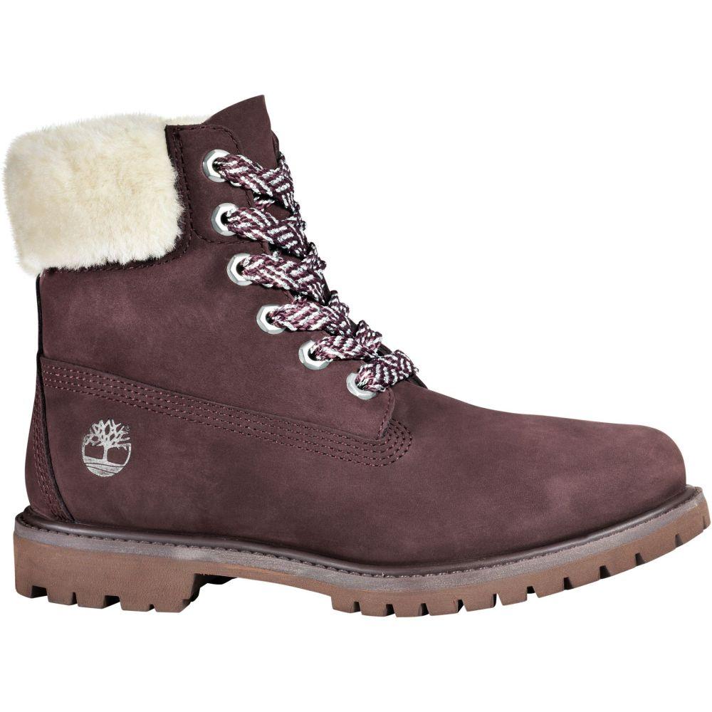 ティンバーランド Timberland レディース ブーツ シアリング シューズ・靴【6'' Shearling 200g Waterproof Casual Boots】Dark Purple