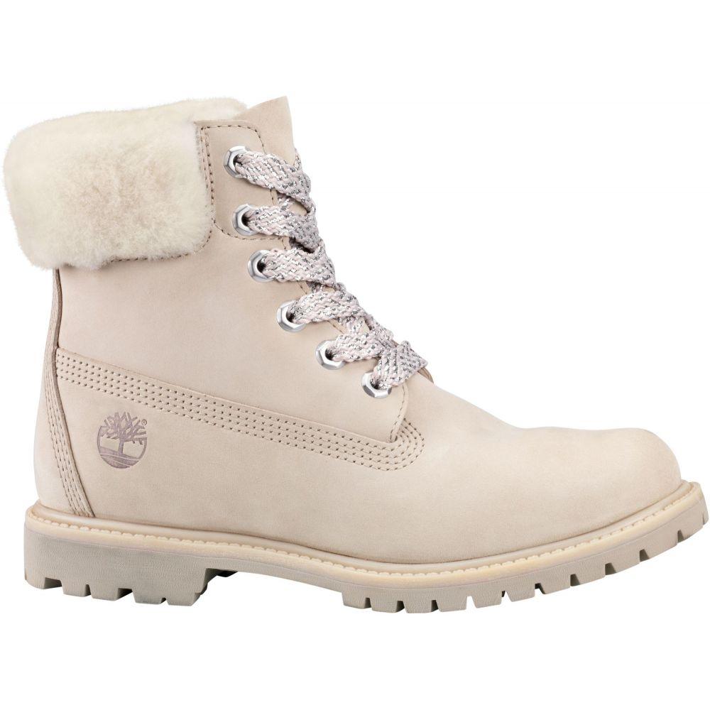ティンバーランド Timberland レディース ブーツ シアリング シューズ・靴【6'' Shearling 200g Waterproof Casual Boots】Light Taupe