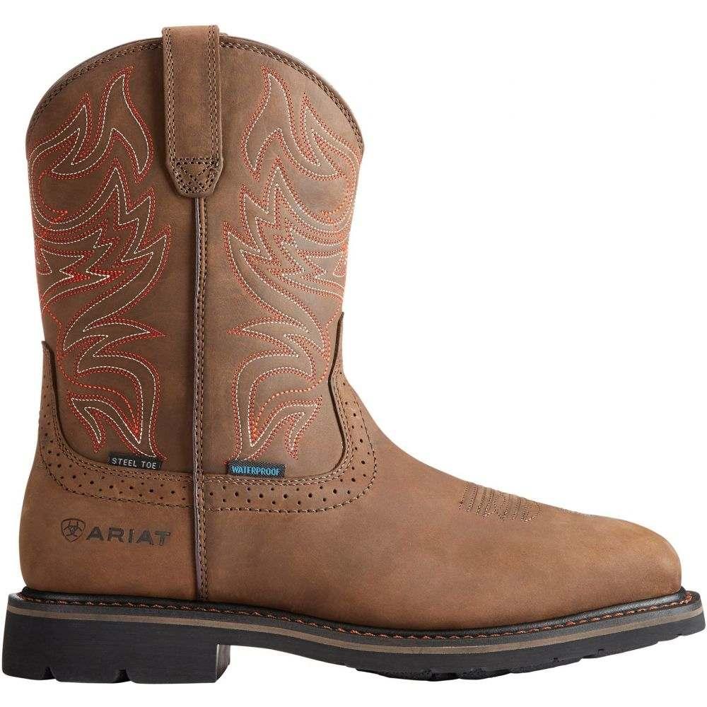 アリアト Ariat メンズ ブーツ ウェスタンブーツ ワークブーツ シューズ・靴【Sierra Delta Waterproof Steel Toe Western Work Boots】Oily Brown