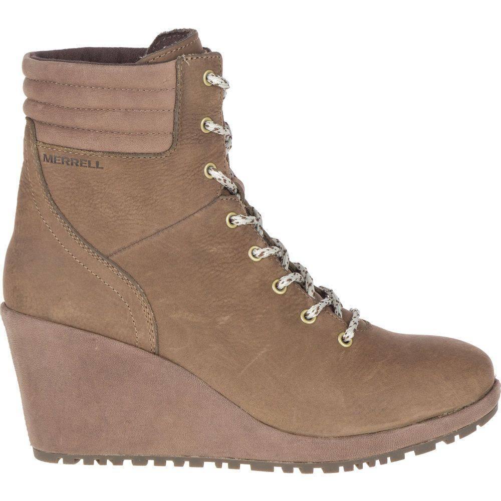 メレル Merrell レディース ブーツ ウェッジソール シューズ・靴【Tremblant Wedge Waterproof Boots】Stone
