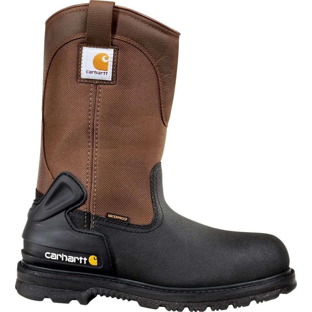 カーハート Carhartt メンズ ブーツ ウェリントンブーツ ワークブーツ シューズ・靴【11'' Mud Wellington Waterproof Steel Toe Work Boots】Black/Brown